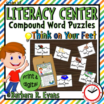 COMPOUND WORDS LITERACY CENTER Feet Theme Compound Words Activities