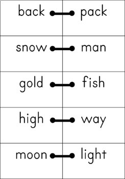 {COMPOUND WORDS} {Dyslexia Worksheets} {Middle School Reading Intervention}