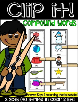 COMPOUND WORDS LITERACY CENTRE ACTIVITY