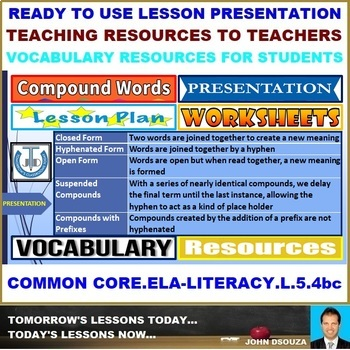 COMPOUND WORDS: READY TO USE LESSON PRESENTATION