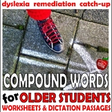 {Middle School reading intervention} {dyslexia worksheets} {compound words}