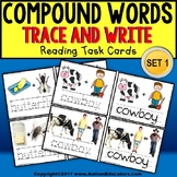 "COMPOUND WORDS Task Cards For Visual Learners ""Task Box Filler"" for Special Ed"