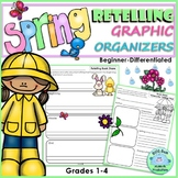 RETELLING Graphic Organizers SPRING Beginner Differentiated