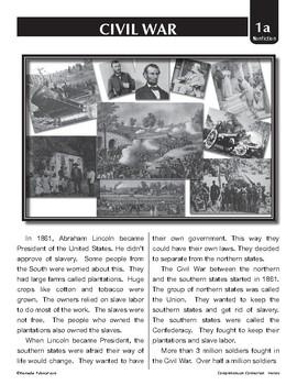 COMPREHENSION CONNECTION: THE CIVIL WAR