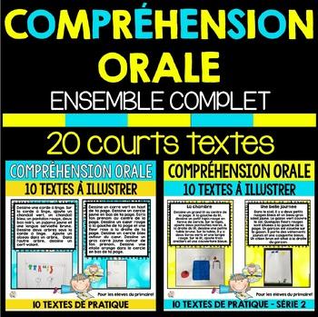 COMPRÉHENSION ORALE - ENSEMBLE COMPLET (SÉRIE 1 ET 2) - 20 COURTS TEXTES