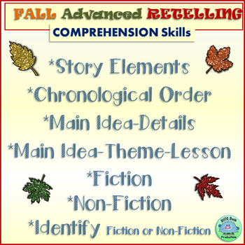COMPREHENSION RETELLING Book Shares ADVANCED FALL