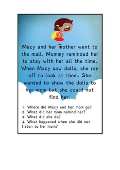 COMPREHENSION STORIES