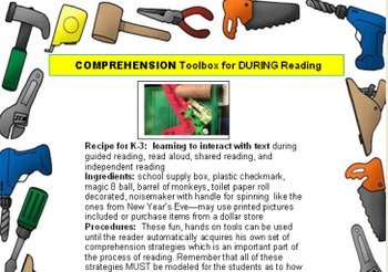 COMPREHENSION Toolbox for DURING Reading