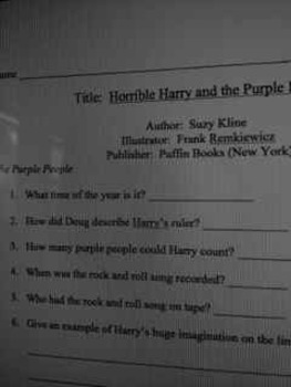 COMPREHENSIONCHECK.HorribleHarry.Purple People