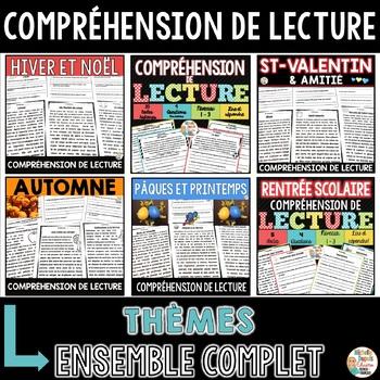 COMPRÉHENSIONS DE LECTURE - ENSEMBLE COMPLET