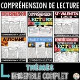 French Reading Comprehension Bundle - COMPRÉHENSIONS DE LECTURE