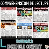 French Reading Comprehension Bundle - COMPRÉHENSIONS DE LECTURE en français