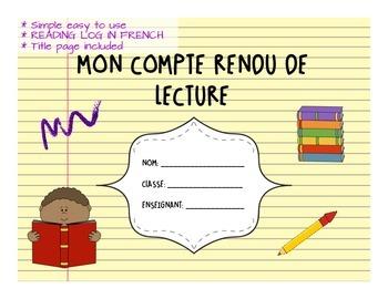 COMPTE RENDU DE LECTURE French reading log