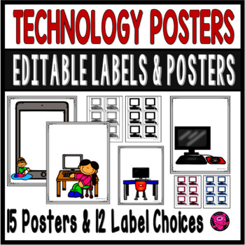 Computer Lab Posters Pack of Rules Lables Charts and Decor