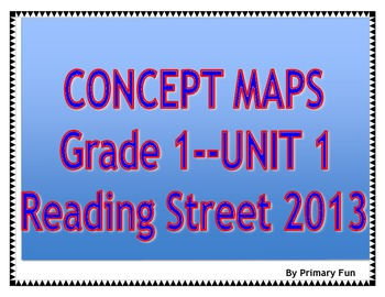 CONCEPT MAPS- UNIT 1- FIRST GRADE READING STREET (2013)