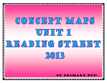 CONCEPT MAPS - UNIT 1 - SECOND GRADE READING STREET (2013