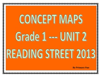 CONCEPT MAPS- UNIT 2- FIRST GRADE READING STREET (2013)