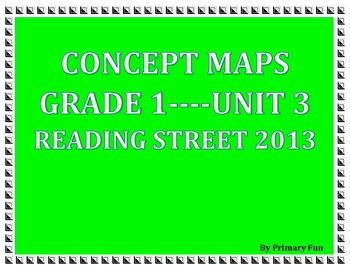 CONCEPT MAPS- UNIT 3- FIRST GRADE READING STREET (2013)