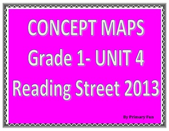CONCEPT MAPS- UNIT 4- FIRST GRADE READING STREET (2013)