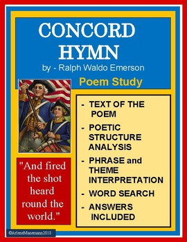 CONCORD HYMN by Emerson - Study Unit