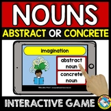 CONCRETE AND ABSTRACT NOUNS GAME) BOOM CARDS GRAMMAR