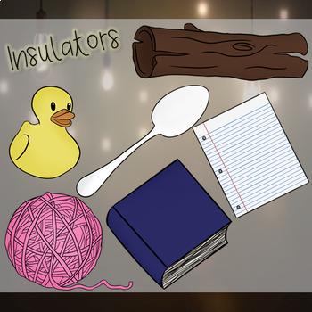 CONDUCTORS AND INSULATORS CLIP ART