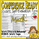 CONFERENCE FORMS–MATH–students evaluate their performance and set goals
