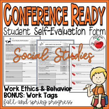 CONFERENCE FORMS–SOC STUDIES–students evaluate their performance and set goals