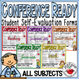 CONFERENCE FORMS–ALL SUBJECTS–students evaluate their performance and set goals