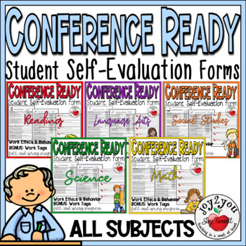 CONFERENCE FORMS BUNDLE–students evaluate performance and set goals