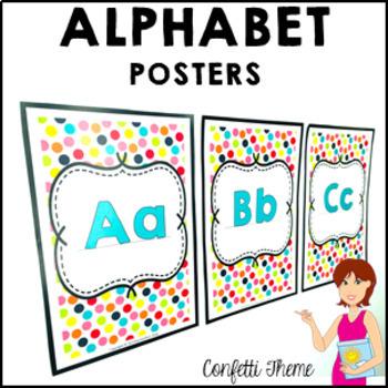 CONFETTI Classroom Decor Alphabet Posters