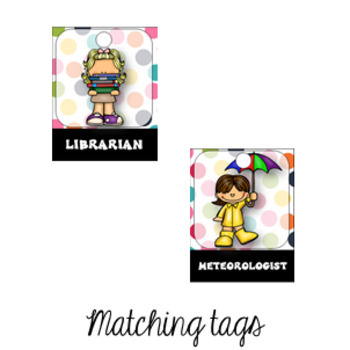 CONFETTI Classroom Jobs and Student Brag Tags