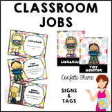 CONFETTI Classroom Jobs and Student Tags