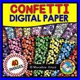 CONFETTI DIGITAL PAPER BACKGROUNDS POLKA DOTS