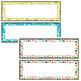 CONFETTI Student Name Plates Fully Editable