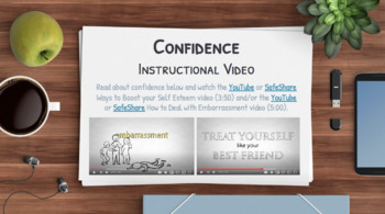 CONFIDENCE Activities: 5 Writing Prompts