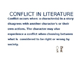 CONFLICTS IN LITERATURE POWERPOINT