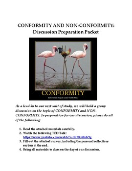 CONFORMITY AND NON-CONFORMITY: GROUP DISCUSSION