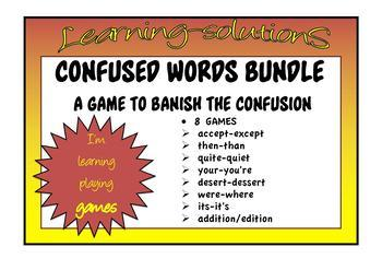 CONFUSED WORDS GAME BUNDLE - 6 Games - then/than, quiet/quite  + 4 more