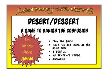 COMMONLY CONFUSED WORDS - GAME desert-dessert