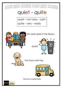 COMMONLY CONFUSED WORDS - GAME quiet-quite