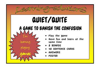 CONFUSED WORDS GAME quiet-quite