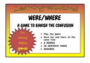 COMMONLY CONFUSED WORDS - GAME  were-where