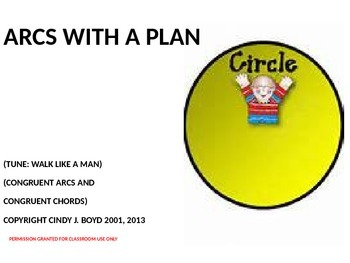 CONGRUENT ARCS AND CONGRUENT CHORDS OF A CIRCLE SONG