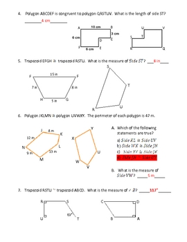CONGRUENT POLYGONS / FIGURES