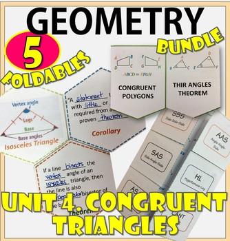 CONGRUENT TRIANGLES. UNIT 4. GEOMETRY Foldables Bundle