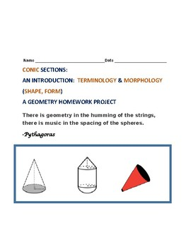 Conic Sections: An Introduction:Terminology/Morphology