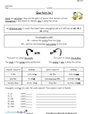 CONJUGATING -ER VERBS PRACTICE (FRENCH)