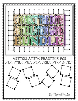 SPEECH THERAPY CONNECT THE DOTS ARTICULATION BUNDLE S, TH, L, R, SH, CH & K