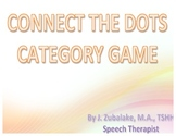 SPEECH THERAPY CONNECT THE DOTS CATEGORY GAME